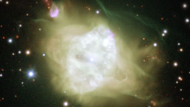 A close-up view of the planetary nebula Fleming 1 seen with ESO's Very Large Telescope