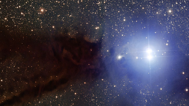 Zooming in on the Lupus 3 dark cloud and associated hot young stars