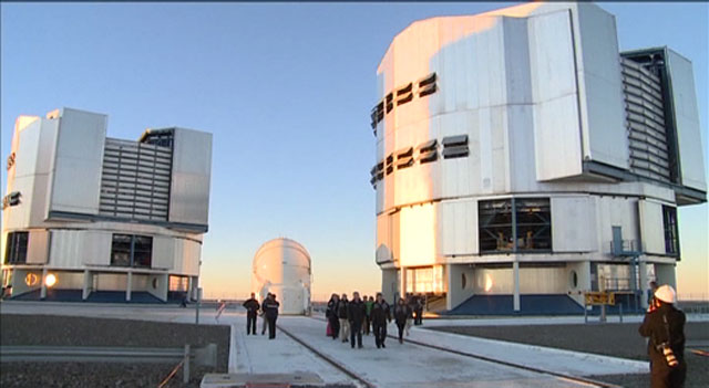 Visit of José Manuel Barroso to the VLT