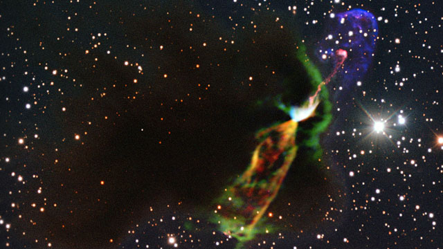 Zooming in on the Herbig-Haro object HH 46/47