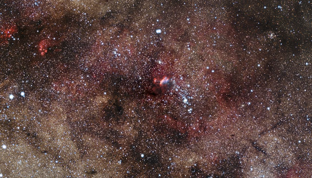 Zooming in on the Prawn Nebula