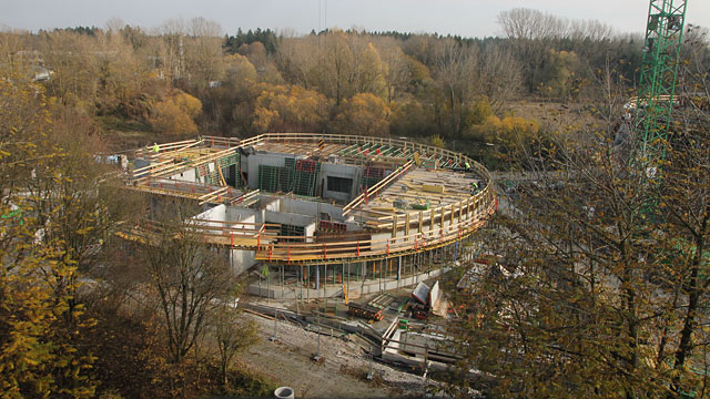 Time-lapse video sequence showing the construction of ESO technical building