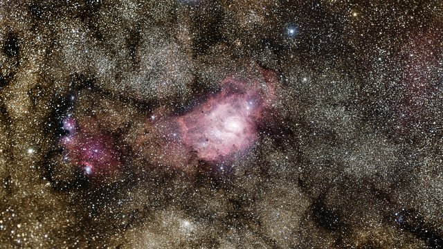 Zooming in on a new image of the Lagoon Nebula from the VST