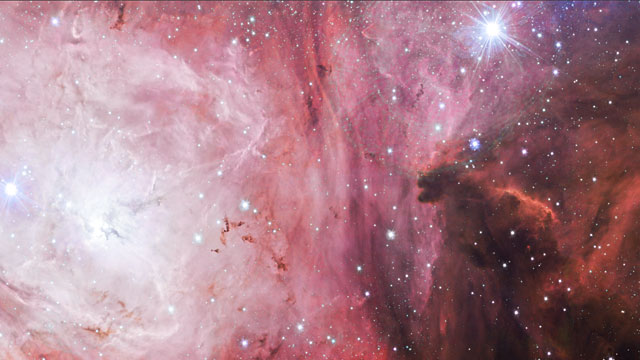 Panning across a new image of the Lagoon Nebula from the VST