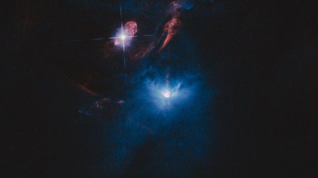 Skivan runt en ung stjärna, som den skulle kunna se ut