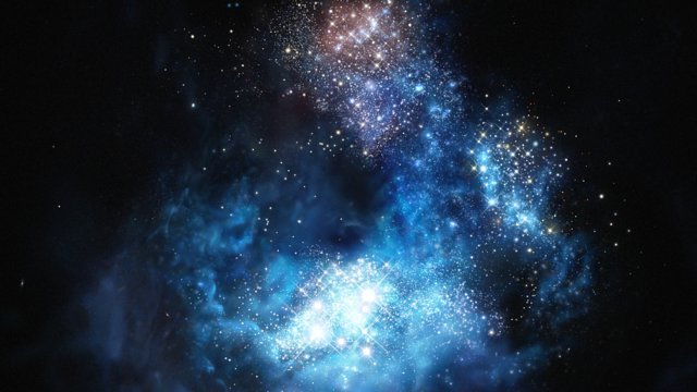 Artist's impression of CR7: the brightest galaxy in the early Universe
