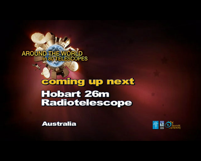 Hobart Radiotelescope (AW80T webcast)