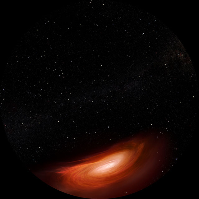Artists Impression of Accreting Black Hole