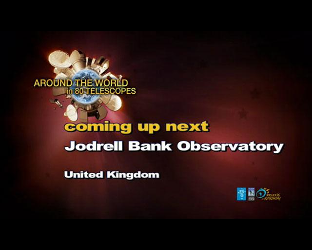 Jodrell Bank Observatory (AW80T webcast)
