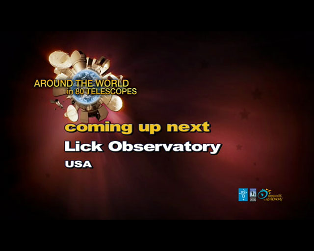 Lick Observatory (AW80T webcast)