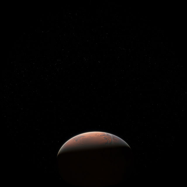 Fulldome video of Mars