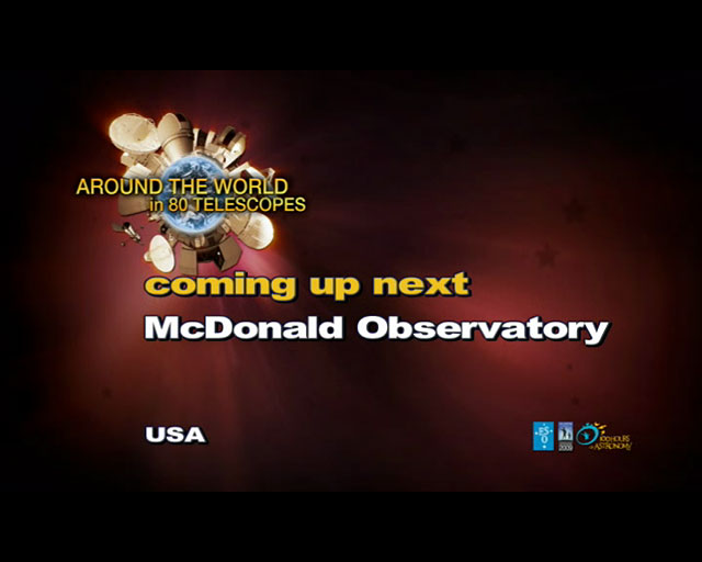 McDonald Observatory (AW80T webcast)