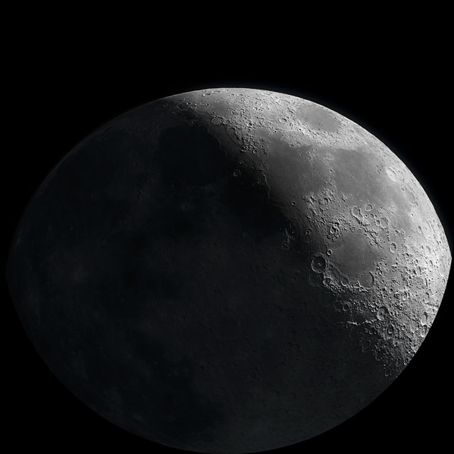 Close-up fulldome video of the Moon's phases