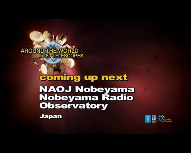 Nobeyama (AW80T webcast)