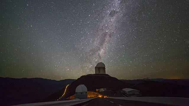 Centaurus over La Silla timelapse