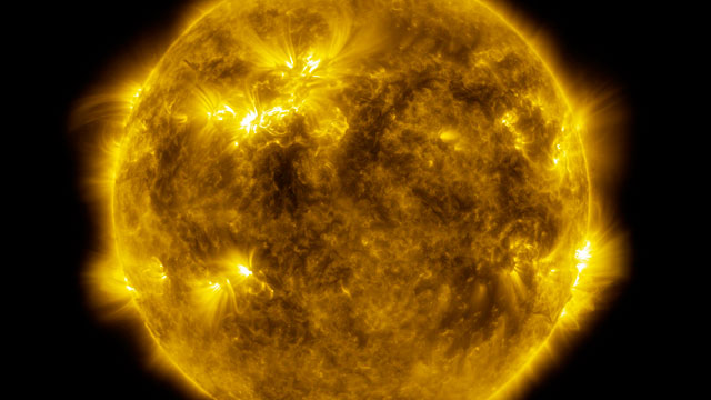 4k video of the Sun's surface activity