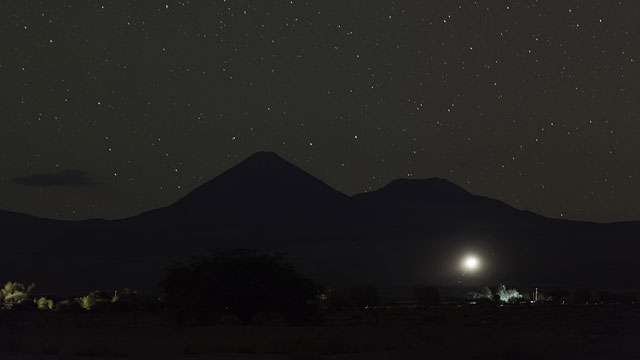 Night Sky over the Licancabur Volcano