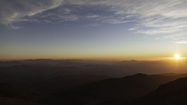 Sun Sets Over La Silla