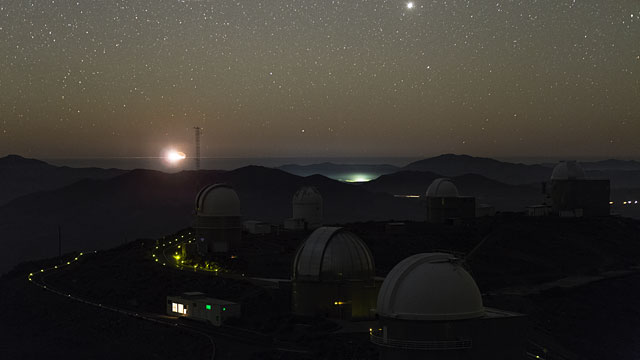 Moon Sets Over La Silla Observatory