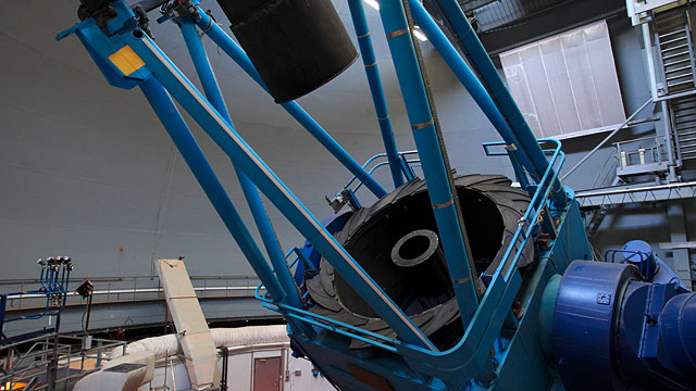 Inside of the ESO 3.6-metre telescope