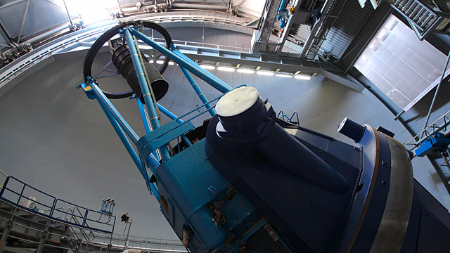 Interior of ESO 3.6-metre telescope