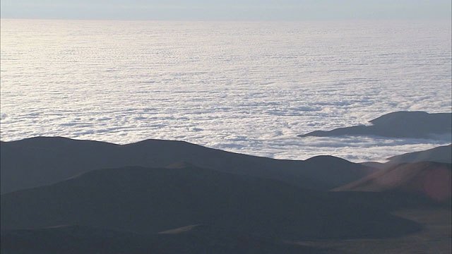 Clouds on the Pacific Ocean
