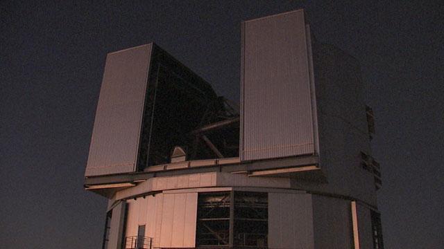 A Unit Telescope at Sunset