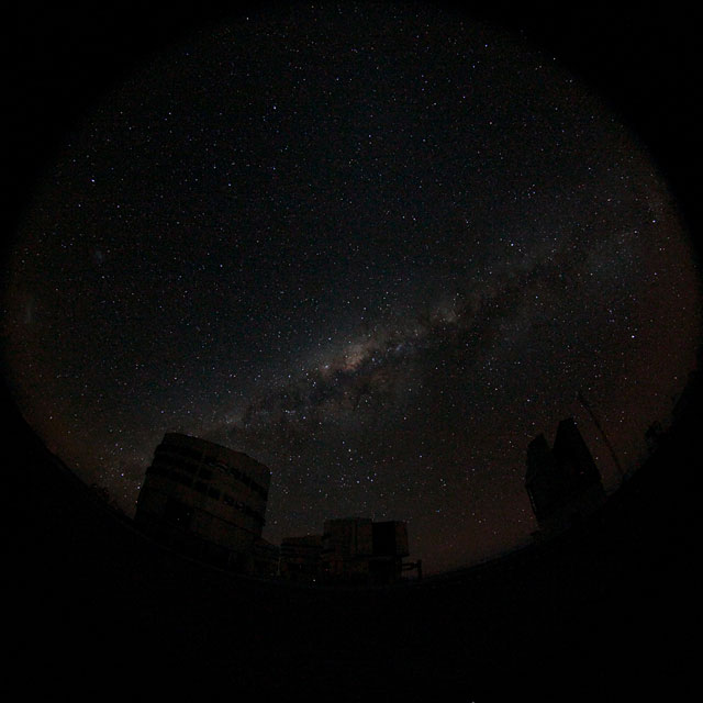 Fulldome of the Milky Way Behind the VLT