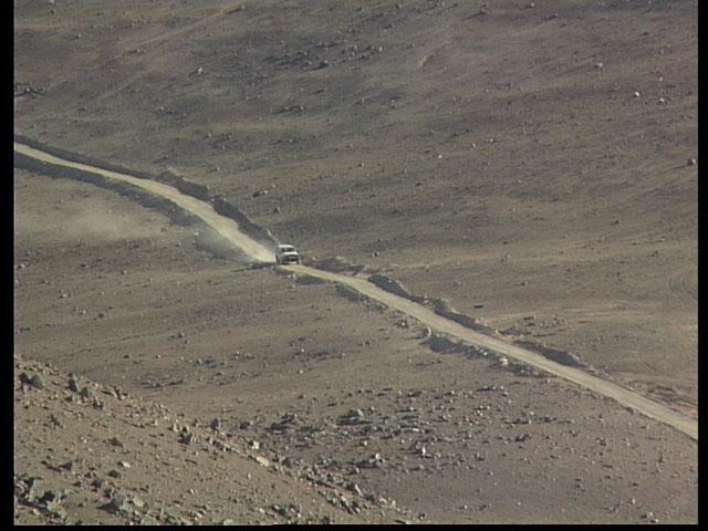 Driving through the Desert