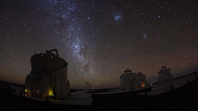 VLT Auxiliary Telescopes time-lapse