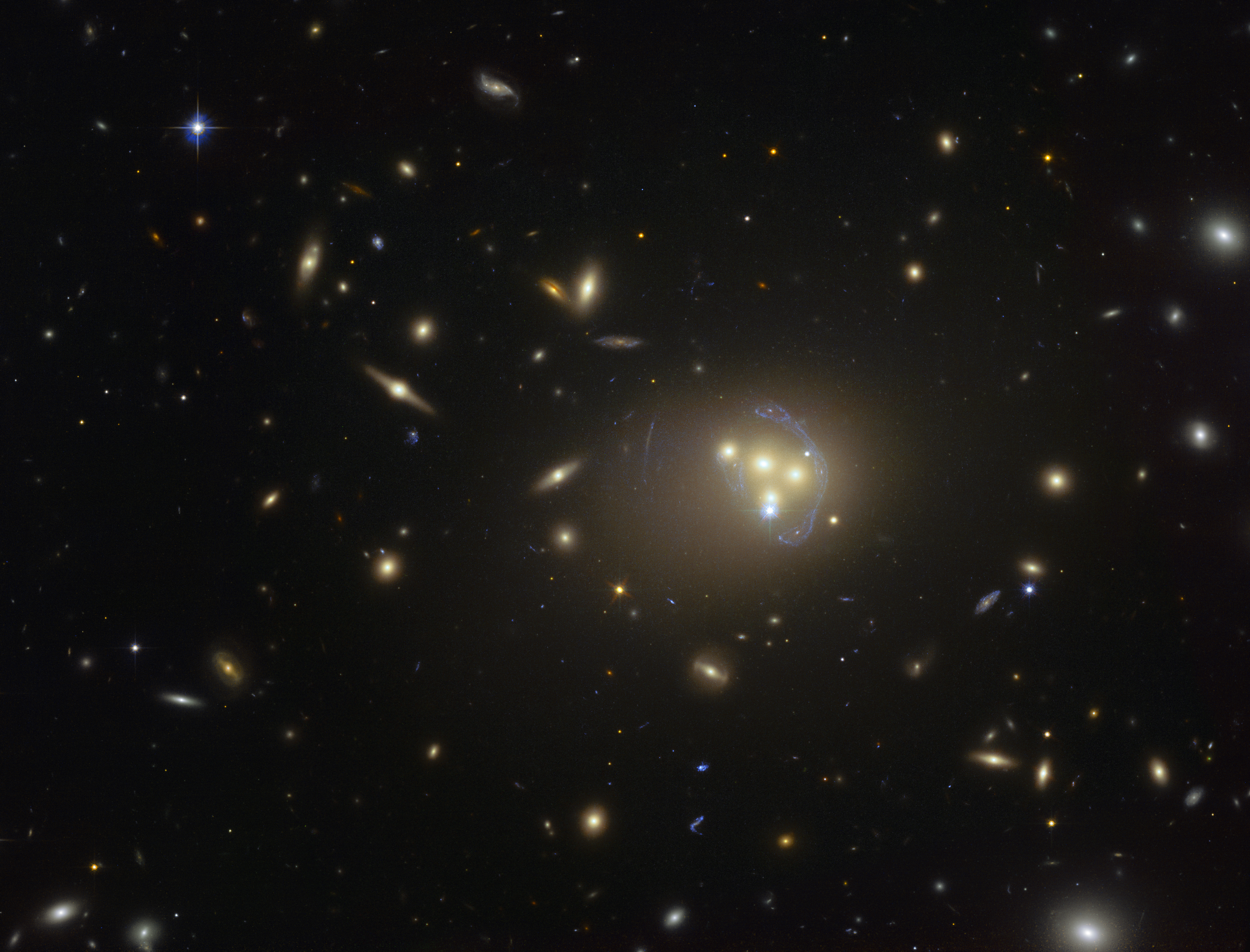 hubble image of the galaxy cluster abell