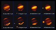 De inslag op Jupiter van komeet Shoemaker-Levy 9 in 1994