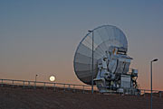 ALMA antenna and the Moon