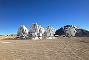 ALMA Antennas on the Chajnantor plateau in northern  Chile