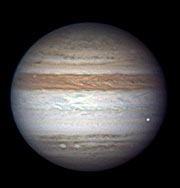 A fireball in the atmosphere of Jupiter