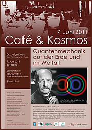 Café & Kosmos 7 June 2011: Quantum mechanics, on Earth and in space