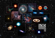 A collage of images from NACO on the ESO Very Large Telescope