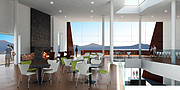 The ALMA Hotel Residence main hall (artist's impression)
