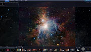 Captura de ecrã de uma imagem do ESO da nebulosa de Orion mostrada no WWT do Windows