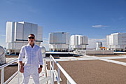 Erasure singer Andy Bell standing in front of the VLT
