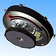 Konstruktionszeichnung des adaptiven Spiegelsystems M4 vom E-ELT