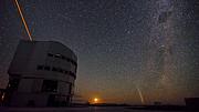 Das Paranal-Observatorium der ESO bei Nacht