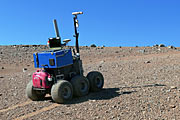 The ESA Seeker autonomous rover during tests at Paranal