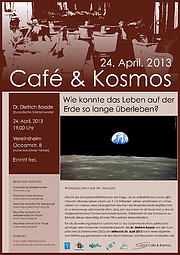 Poster zu Café & Kosmos am 24. April 2013