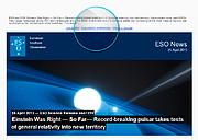 Imagem no email do boletim informativo das Notícias do ESO