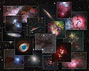 Коллаж изображений, полученных с 2.2-метровым телескопом MPG/ESO