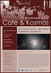 Poster zu Café & Kosmos am 12. November 2013