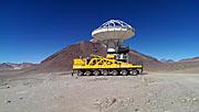 ALMA-Transporter bei der Umsiedlung einer ALMA-Antenne