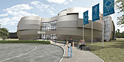 Artist's impression of ESO Supernova Planetarium & Visitor Centre