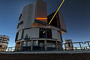 First Light des neuen Lasers der Adaptive Optics Facility am Paranal